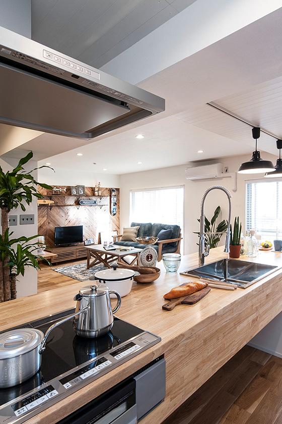 北本市で建てる注文住宅のキッチン