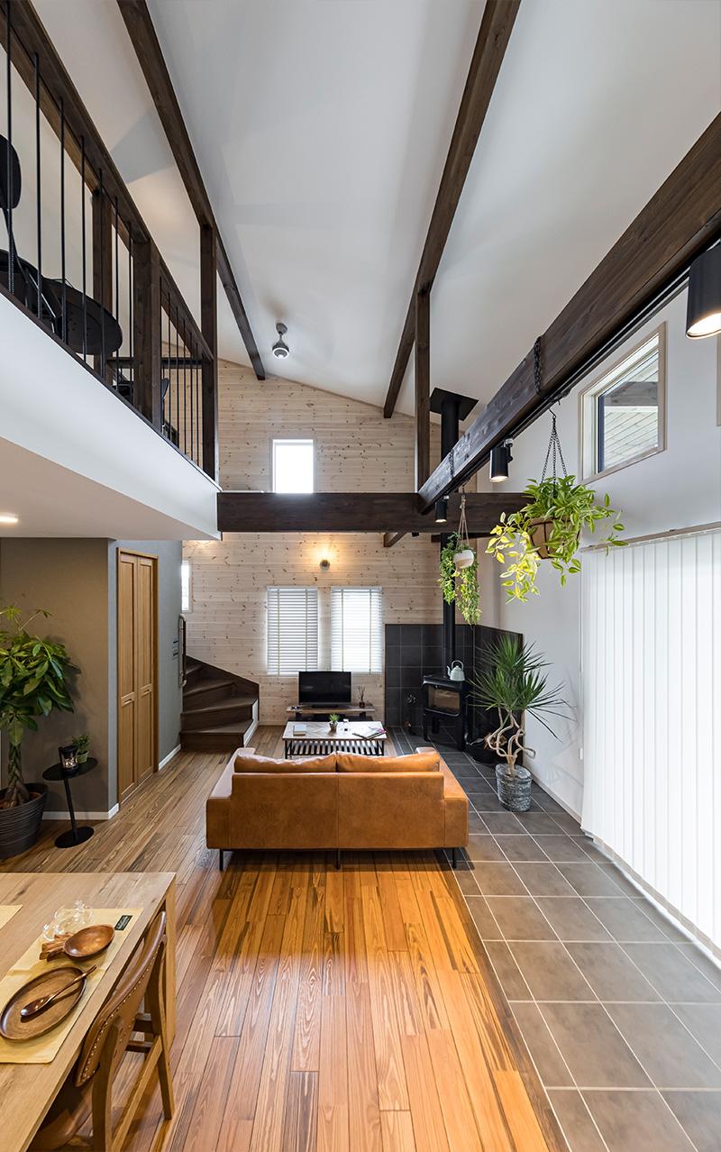 北本市の注文住宅のダイニングキッチン