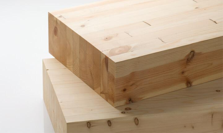 木の良さを生かした構造材